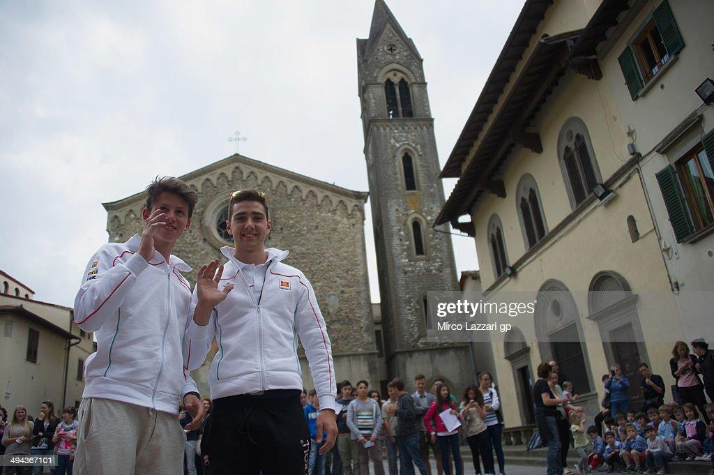 Matteo Ferrari of Italy and San Carlo Team Italia and Andrea Locatelli of Italy and San Carlo Team Italia pose during the preevent 'Inflorata in...