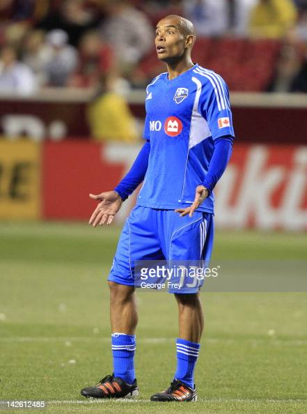 Matteo Ferrari of Montreal Impact looks at officials during a game against Real Salt Lake during the second half of an MLS soccer game April 4 2012...