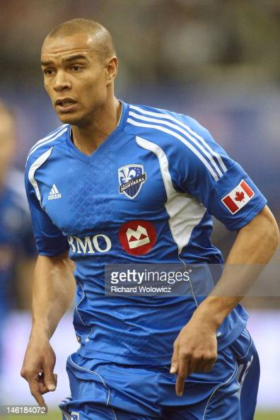 Matteo Ferrari of the Montreal Impact runs during the MLS match against the Portland Timbers at the Olympic Stadium on April 28 2012 in Montreal...