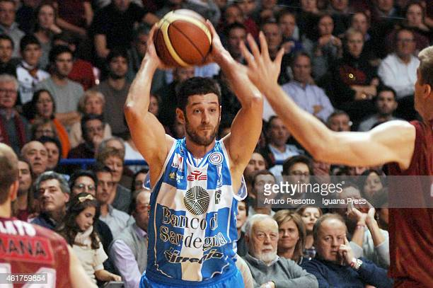 Matteo Formenti of Banco di Sardegna in action during the Lega Basket serie A1 match between Umana Reyer Venezia and Banco di Sardegna Dinamo Sassari...