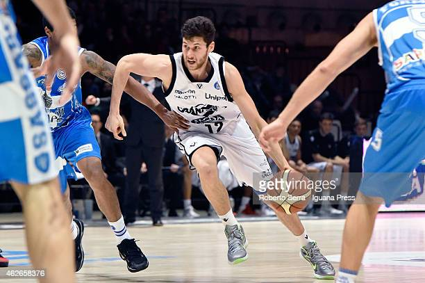 Matteo Imbro of Granarolo competes with Edgar Sosa of Banco di Sardegna during the LegaBasket of Serie A match between Virtus Granarolo Bologna and...