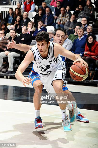 Matteo Imbro of Granarolo competes with Massimo Bulleri of Enel during the LegaBasket Serie A1 match between Granarolo Bologna and Enel Brindisi at...