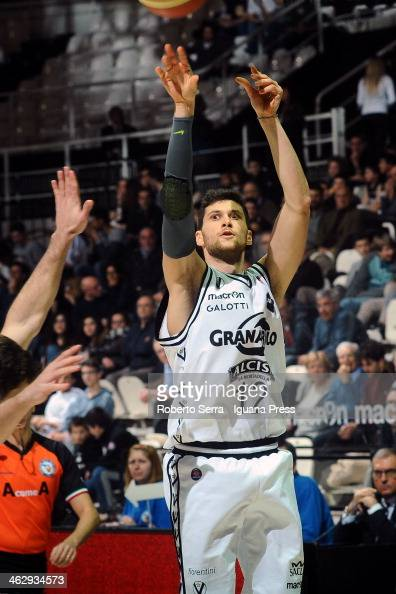 Matteo Imbro of Granarolo in action during the LegaBasket Serie A1 match between Granarolo Bologna and Vitasnella Cantu at Unipol Arena on January 12...