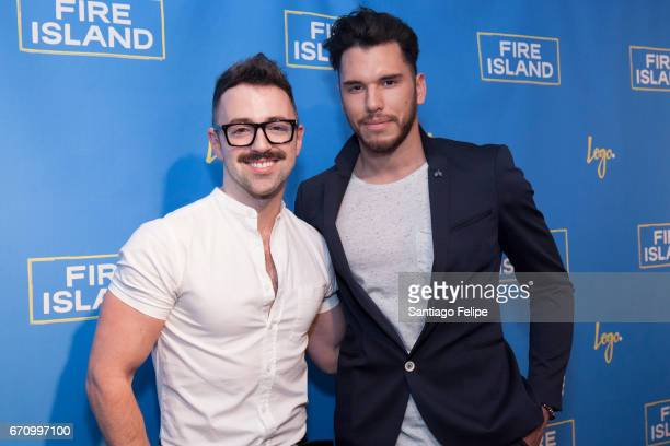 Matteo Lane and Alfredo Solivan attend Logo TV Fire Island Premiere Party at Atlas Social Club on April 20 2017 in New York City