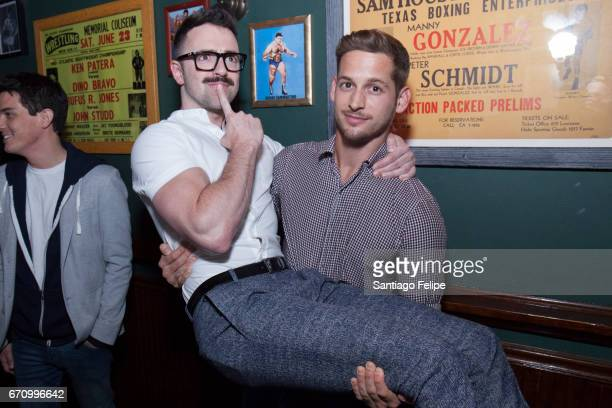 Matteo Lane and Max Emerson attend Logo TV Fire Island Premiere Party at Atlas Social Club on April 20 2017 in New York City