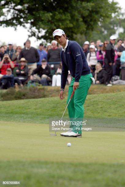 Matteo Manassero during the fourth round of the the BMW PGA Championship at Wentworth Golf Club Surrey