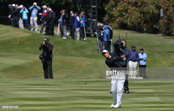Matteo Manassero in action during the first round of the BMW PGA Championship at Wentworth Golf Club Surrey