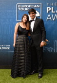 Matteo Manassero of Italy and Anna Antoniutti attend the European Tour Players' Awards ahead of the BMW PGA Championship at the Sofitel London...