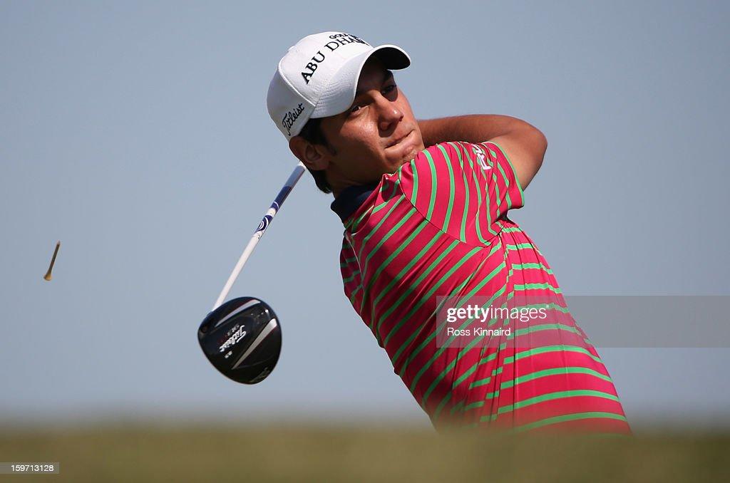 Matteo Manassero of Italy during the third round of the Abu Dhabi HSBC Golf Championship at the Abu Dhabi Golf Club on January 19, 2013 in Abu Dhabi, United Arab Emirates.