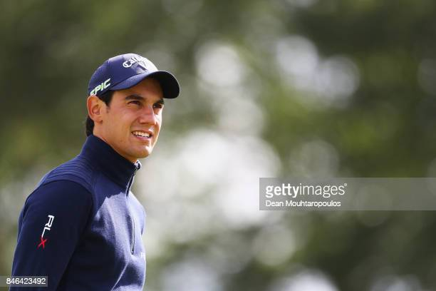Matteo Manassero of Italy looks on during the European Tour KLM Open ProAM held at The Dutch on September 13 2017 in Spijk Netherlands