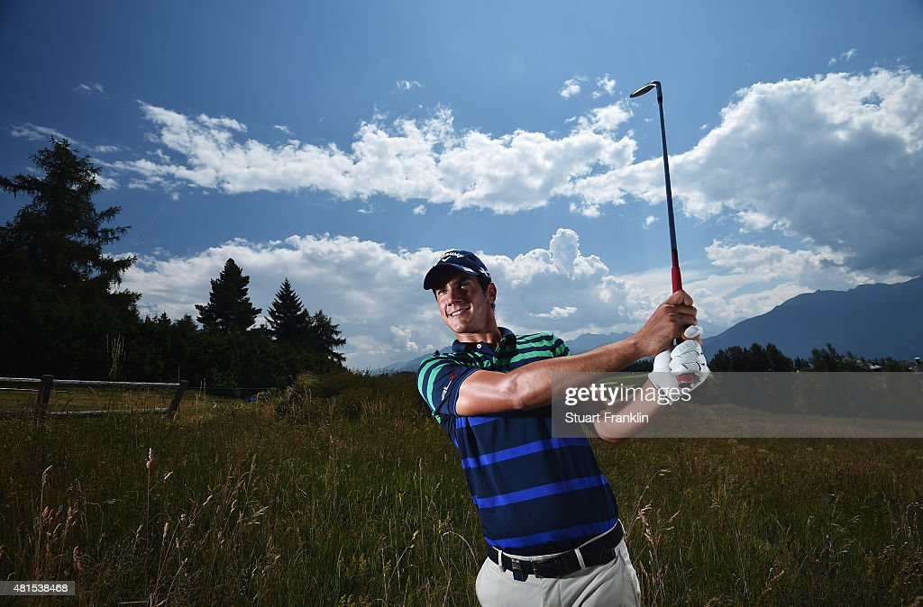 <a gi-track='captionPersonalityLinkClicked' href=/galleries/search?phrase=Matteo+Manassero&family=editorial&specificpeople=4479535 ng-click='$event.stopPropagation()'>Matteo Manassero</a> of Italy poses for a picture prior to the start of the Omega European Masters at Crans-sur-Sierre Golf Club on July 22, 2015 in Crans-Montana, Switzerland.