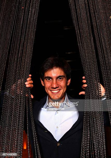 Matteo Manassero of Italy poses for a portrait during the 2014 HSBC Golf Business Forum at The Westin Hotel at Abu Dhabi Golf Club on April 29 2014...