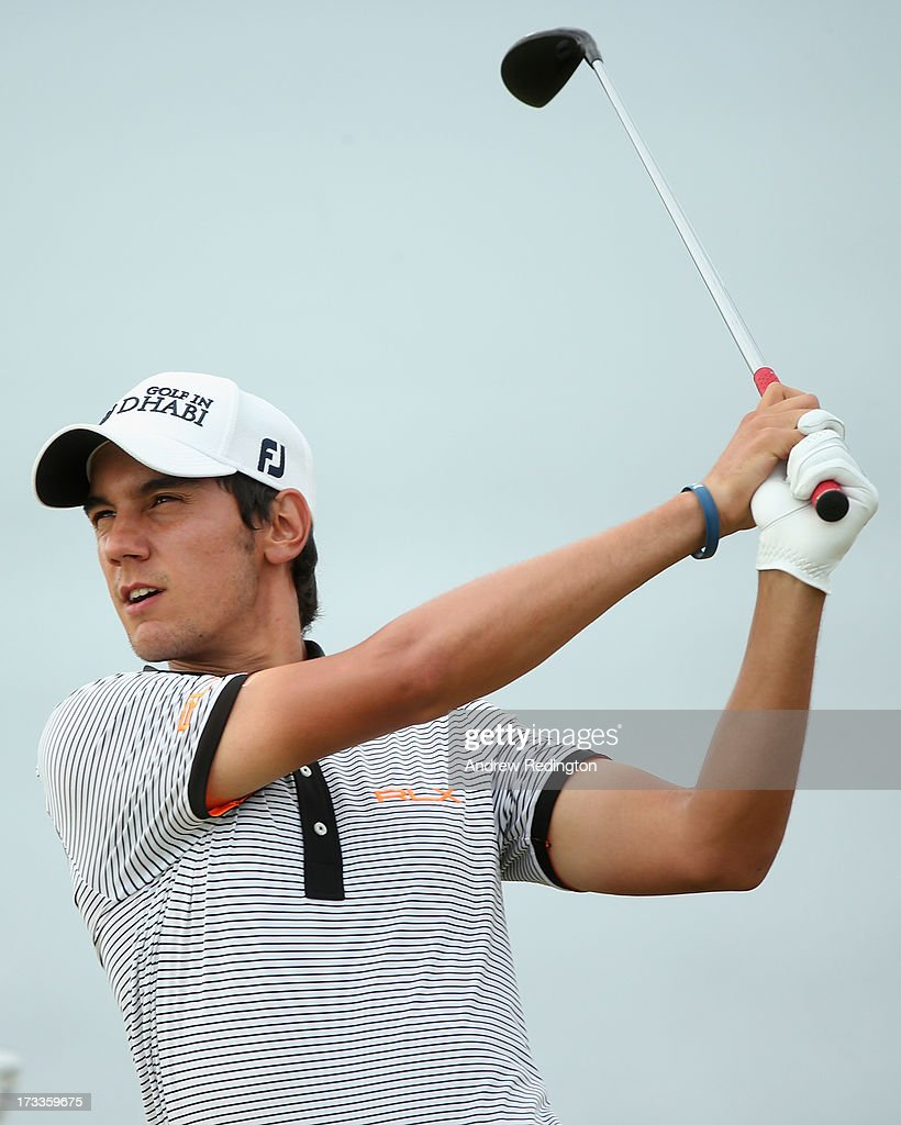 <a gi-track='captionPersonalityLinkClicked' href=/galleries/search?phrase=Matteo+Manassero&family=editorial&specificpeople=4479535 ng-click='$event.stopPropagation()'>Matteo Manassero</a> of Italy tees off on the 17th hole during the second round of the Aberdeen Asset Management Scottish Open at Castle Stuart Golf Links on July 12, 2013 in Inverness, Scotland.