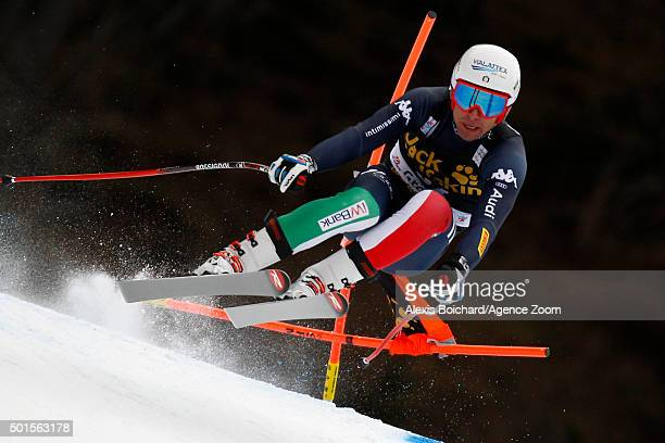 Matteo Marsaglia of Italy competes during the Audi FIS Alpine Ski World Cup Men's Downhill Training on December 16 2015 in Val Gardena Italy
