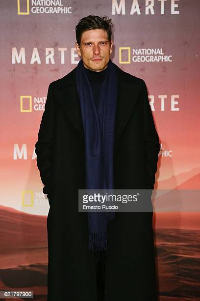 Matteo Martari attends the premiere of 'Marte' at The Space Moderno on November 8 2016 in Rome Italy