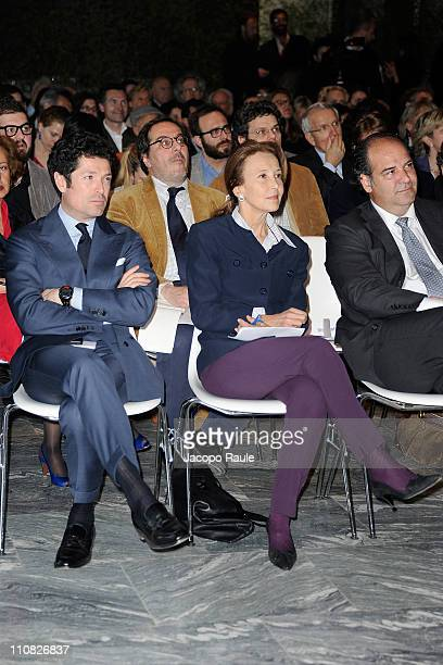 Matteo Marzotto and Margherita Marzotto attend Premio Gaetano Marzotto on March 24 2011 in Milan Italy The Gaetano Marzotto prize is open to new...
