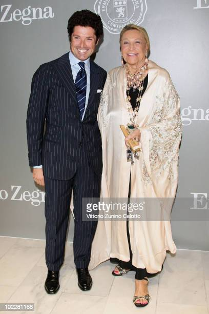 Matteo Marzotto and Marta Marzotto attend the 'Cento Anni Di Eccellenza' Exhibition Launch party during Milan Fashion Week Menswear Spring/Summer...