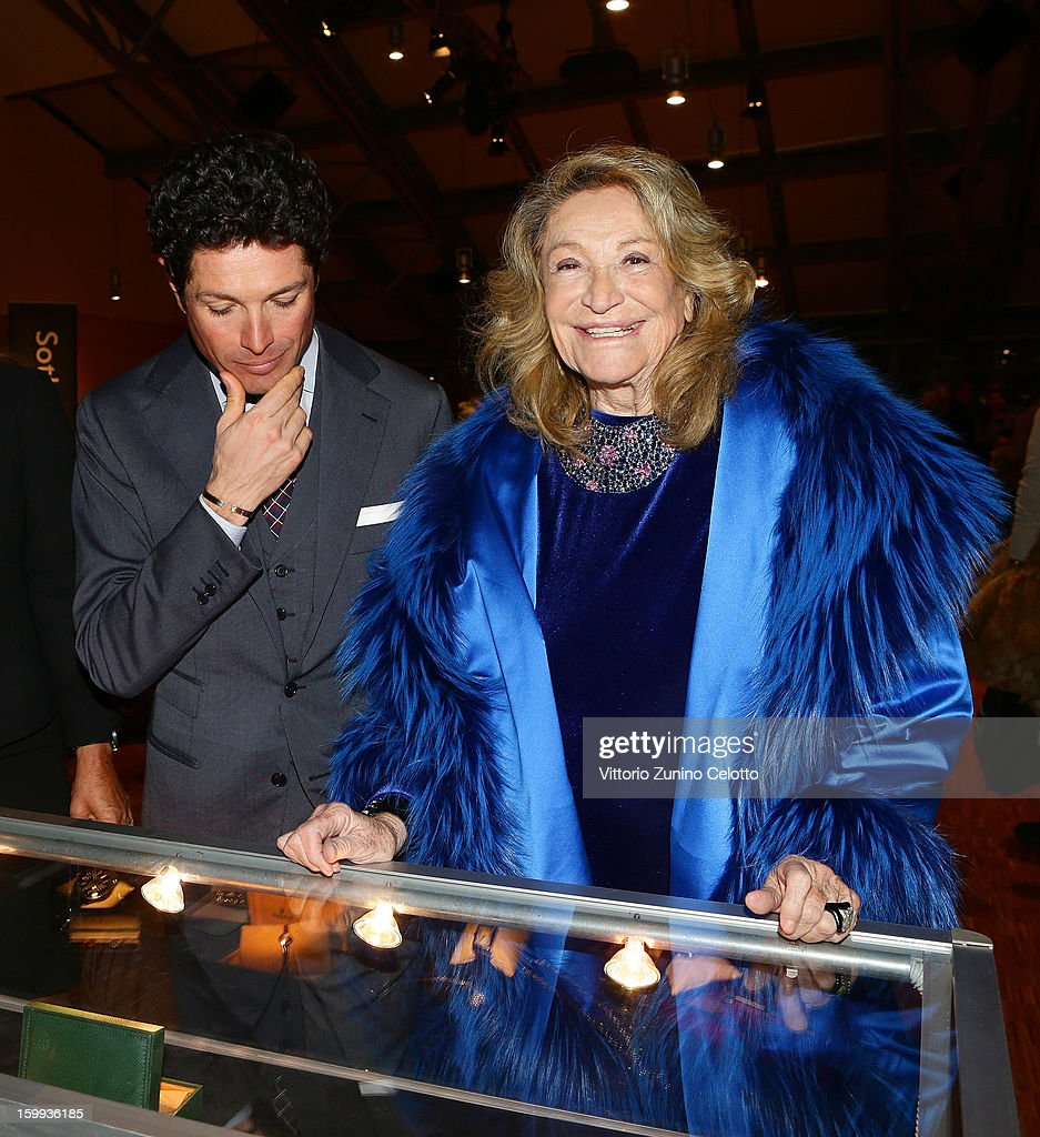 Matteo Marzotto and Marta Marzotto attend the Sotheby's charity auction for FFC Onlus on January 23, 2013 in Milan, Italy.