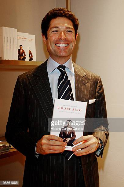 Matteo Marzotto attends the launch of his book 'Volare Alto' on November 24 2009 in Milan Italy