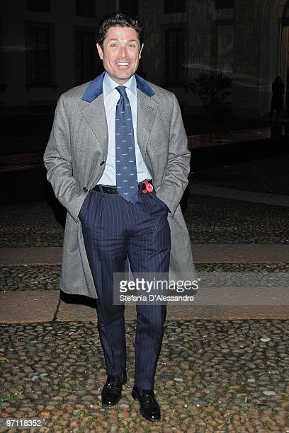 Matteo Marzotto attends the Vogueit Milan Fashion Week Womenswear Autumn/Winter 2010 show on February 26 2010 in Milan Italy