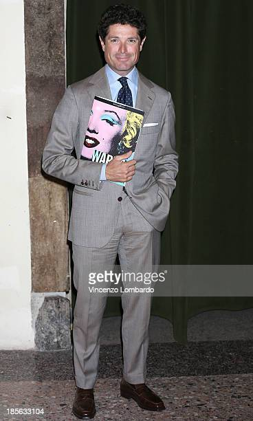 Matteo Marzotto attends the 'Warhol' Exhibition Press Conference and Press Preview at Palazzo Reale on October 23 2013 in Milan Italy
