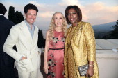 Matteo Marzotto Franca Sozzani and Executive Director of the United Nations World Food Programme Ertharin Cousin attend the 60th Taormina Film Fest...