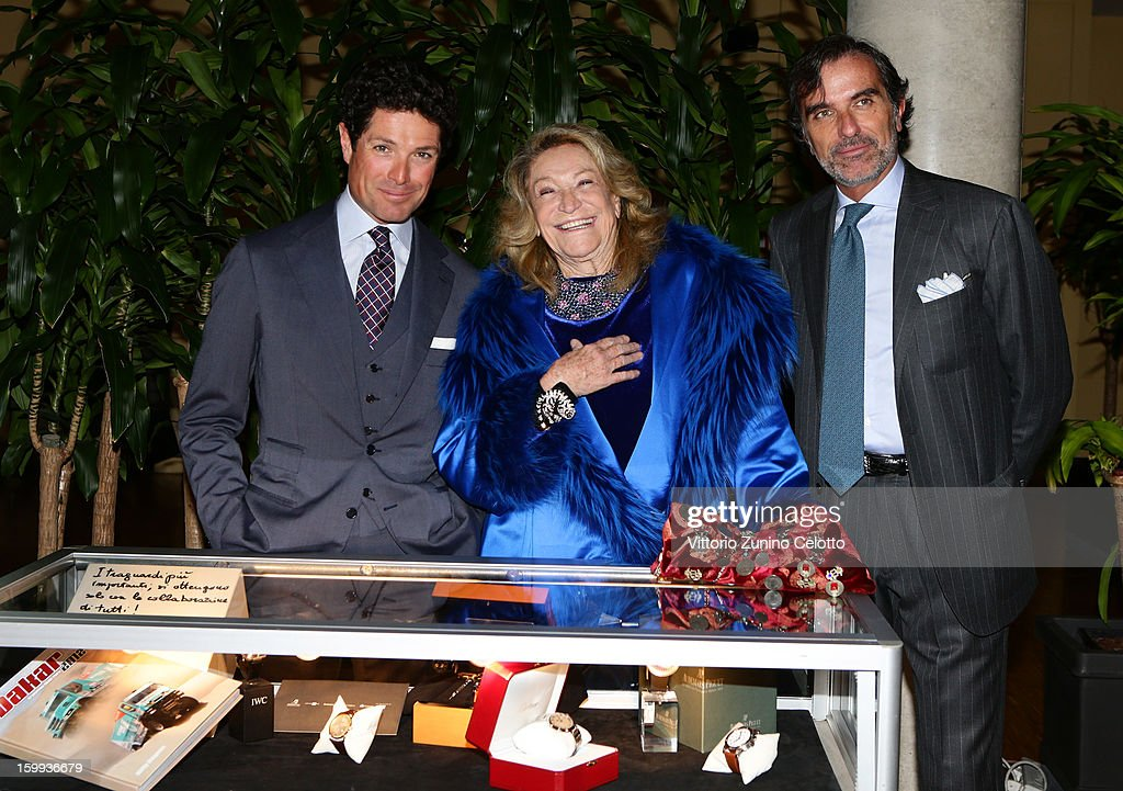 Matteo Marzotto. Marta Marzotto, Umberto Verga attend the Sotheby's charity auction for FFC Onlus on January 23, 2013 in Milan, Italy.