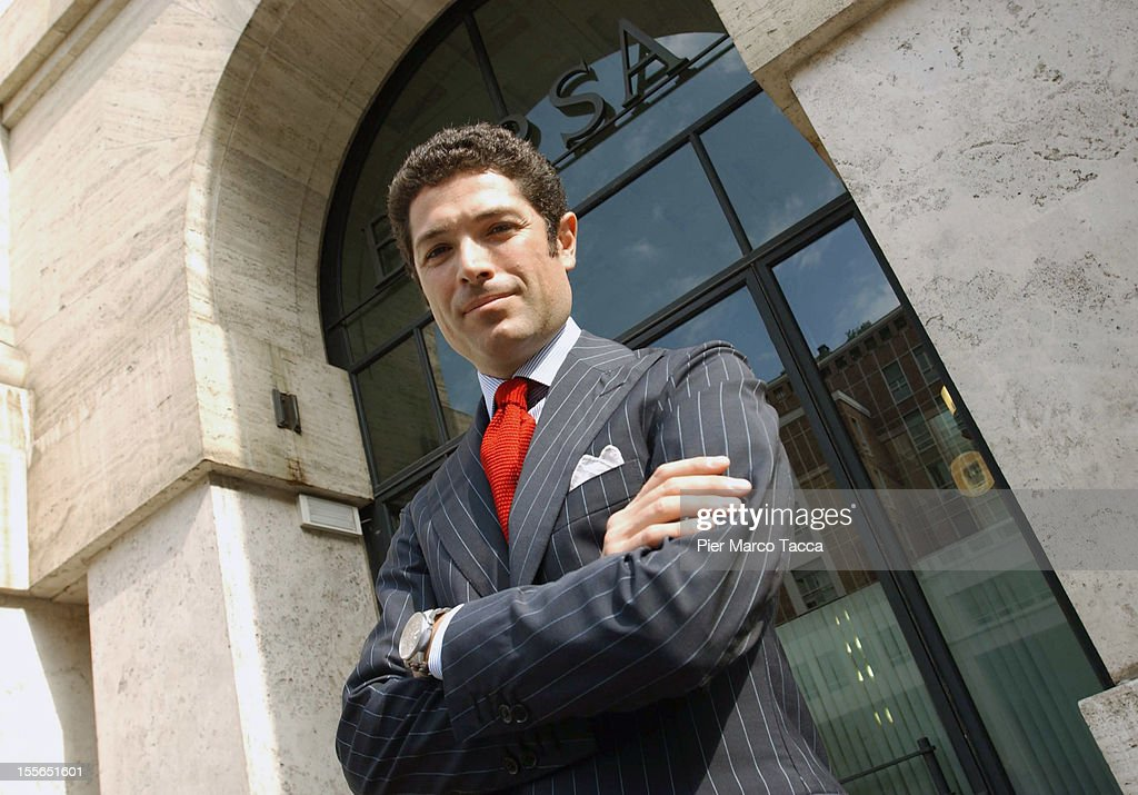<a gi-track='captionPersonalityLinkClicked' href=/galleries/search?phrase=Matteo+Marzotto&family=editorial&specificpeople=624134 ng-click='$event.stopPropagation()'>Matteo Marzotto</a> poses at Palazzo Mezzanotte during the quotation of the Valentino group to the Stock- Exchange of Milan on July 1, 2005 in Milan, Italy. Italian police have confiscated €65m of assets which also include a 15th century castle, from the Marzotto family and its business associates for a suspected tax evasion relating to the 2007 sale of the luxury Valentino fashion brand.