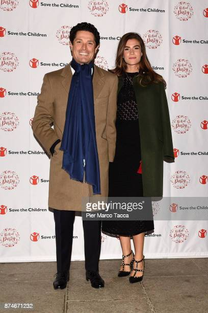 Matteo Mazotto and Nora Shkreli attend Save The Children Charity Party on November 15 2017 in Milan Italy