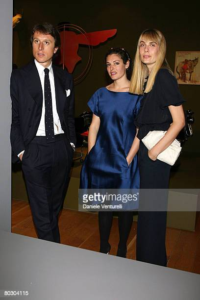 Matteo Motezemolo Ginevra Elkann and Lavinia Elkann attend the Adventure with Objects/Preview Gala Dinner at Pinacoteca Giovanni e Marella Agnlli on...