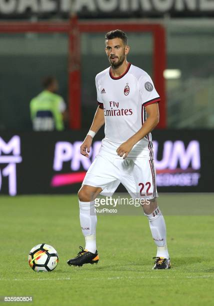 Matteo Musacchio during the Serie A match between FC Crotone and AC Milan on August 20 2017 in Crotone Italy