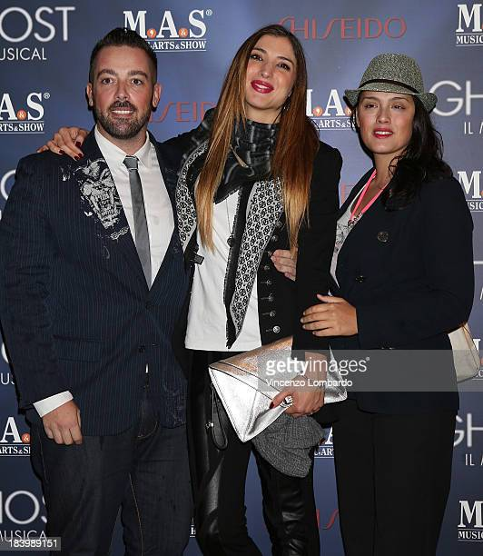 Matteo OssoMargherita Zanatta and Micol Ronchi attend the opening night of 'Ghost The Musical' at the Teatro Nazionale on October 10 2013 in Milan...
