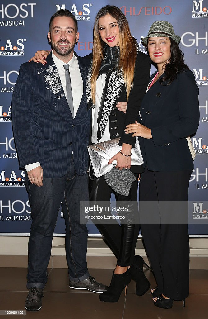 Matteo Osso,Margherita Zanatta and Micol Ronchi attend the opening night of 'Ghost - The Musical' at the Teatro Nazionale on October 10, 2013 in Milan, Italy.