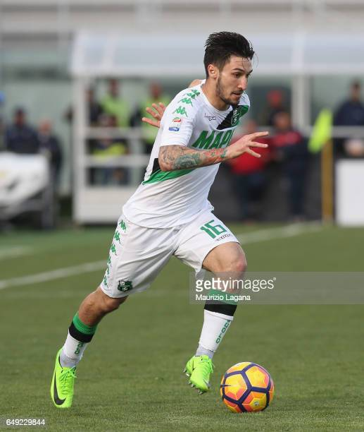 Matteo Politano of Sassuolo during the Serie A match between FC Crotone and US Sassuolo at Stadio Comunale Ezio Scida on March 5 2017 in Crotone...