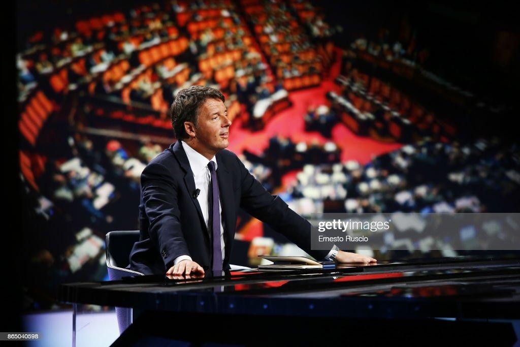 """Matteo Renzi attends """"In 1/2h in piu"""" TV show"""
