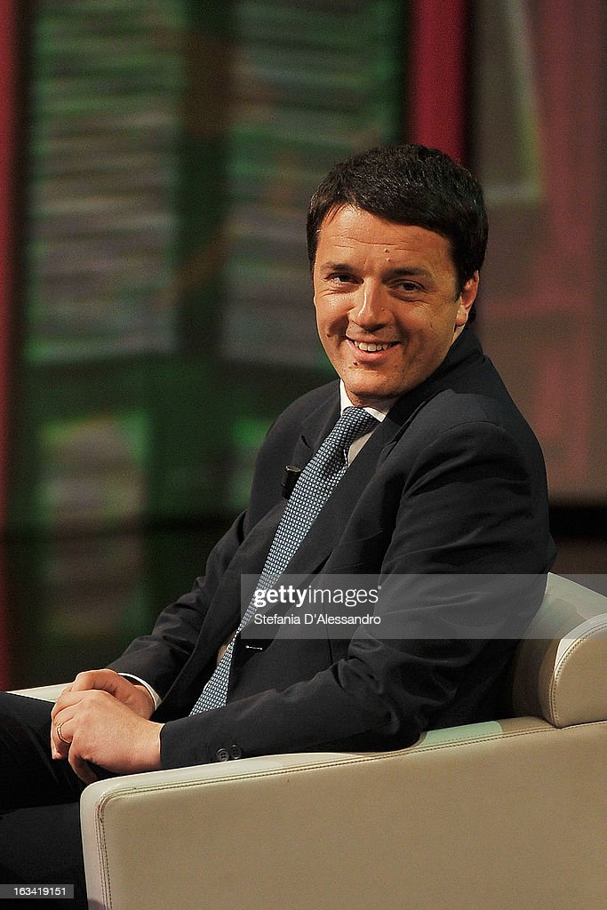 <a gi-track='captionPersonalityLinkClicked' href=/galleries/search?phrase=Matteo+Renzi&family=editorial&specificpeople=6689301 ng-click='$event.stopPropagation()'>Matteo Renzi</a> attends 'Che Tempo Che Fa' Italian TV Show on March 9, 2013 in Milan, Italy.