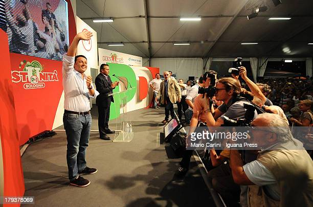 Matteo Renzi attends the Festa Democratica of the Democratic Party at Parco Nord in Bologna on September 2 2013 in Bologna Italy The 38years old...