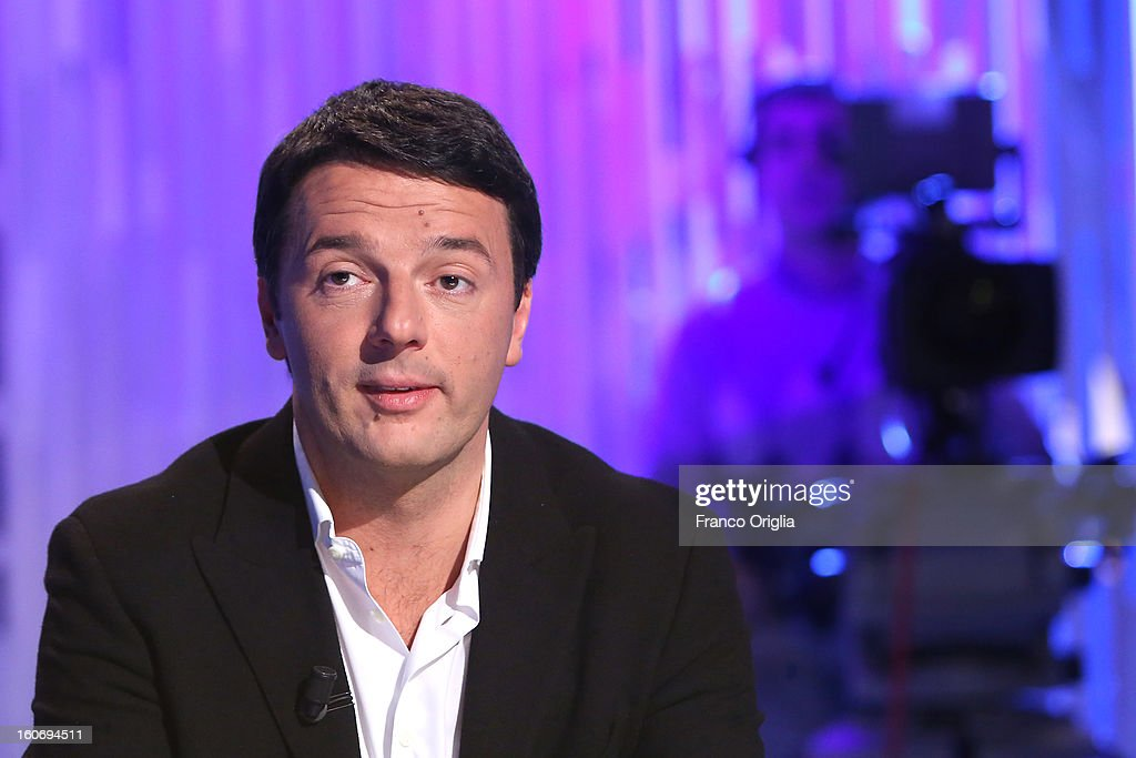 Matteo Renzi, mayor of Florence and Democratic Party (PD) member, attends 'Otto e Mezzo' Italian TV Show at La7 studios on February 4, 2013 in Rome, Italy. The 2012 Italian centre-left primary election determined the leader of the coalition. Common Good, who will stand as common candidate for the office of Prime Minister in the subsequent general election, which will be held on February 24, 2013. It was won with 61% of the votes by Pier Luigi Bersani, who defeated the 37-years old mayor of Florence Matteo Renzi in the run-off.