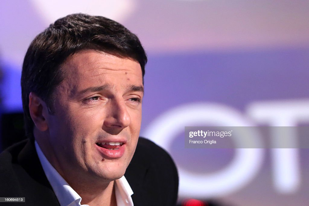 <a gi-track='captionPersonalityLinkClicked' href=/galleries/search?phrase=Matteo+Renzi&family=editorial&specificpeople=6689301 ng-click='$event.stopPropagation()'>Matteo Renzi</a>, mayor of Florence and member of the Democratic Party (PD) attends 'Otto e Mezzo' Italian TV Show at La7 studios on February 4, 2013 in Rome, Italy. The 2012 Italian centre-left primary election determined the leader of the coalition. Common Good, who will stand as common candidate for the office of Prime Minister in the subsequent general election, which will be held on February 24, 2013. It was won with 61% of the votes by Pier Luigi Bersani, who defeated the 37-years old mayor of Florence <a gi-track='captionPersonalityLinkClicked' href=/galleries/search?phrase=Matteo+Renzi&family=editorial&specificpeople=6689301 ng-click='$event.stopPropagation()'>Matteo Renzi</a> in the run-off.