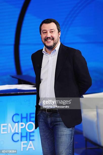 Matteo Salvini attends 'Che Tempo Che Fa' Tv Show on November 20 2016 in Milan Italy