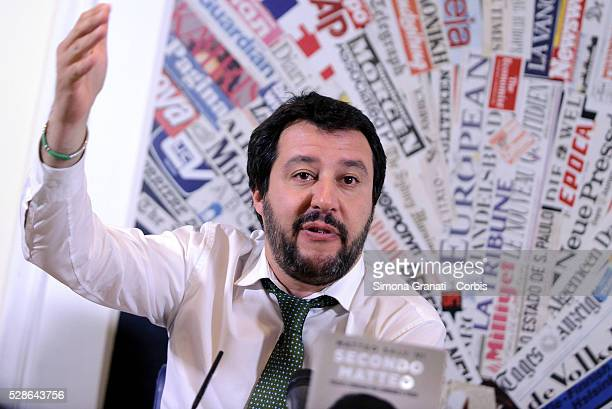 Matteo SalviniNorthern League leader presents his autobiographical book 'Secondo Salvini' at the headquarters of the Foreign Presson May 4 2016 in...