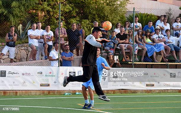 Matteo Sereni in action during the Porto Cervo Summer 2015 Fiveaside Football Tournament Day One on June 27 2015 in Porto Cervo Italy