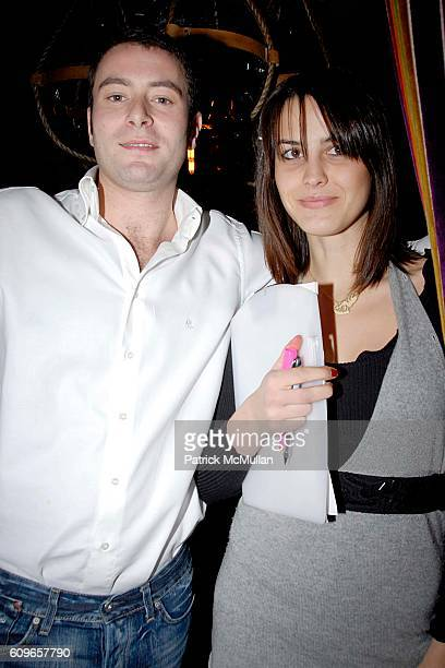 Matteo Sonatori and Chiara Bardelli attend COUP de COEUR Celebrates the Holidays with Shopping and Cocktails at FELICE WINE BAR at FELICE Wine Bar...