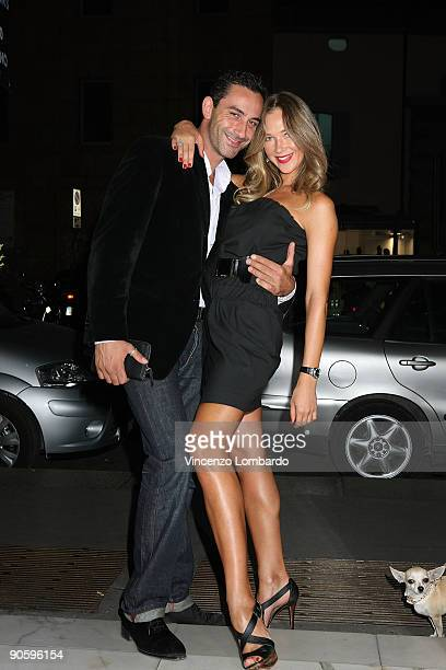 Matteo Viviani and Ludmilla Radchenko attends the VOGUE Fashion's Night Out at the Le Silla boutique on September 10 2009 in Milan Italy