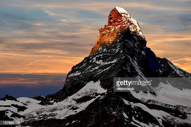 The Matterhorn, one of the highest mountains in Europe is also a popular one with hundreds of people climbing every year. However the falling rocks, the prevalence of avalanches and severe overcrowding makes it a difficult climb.