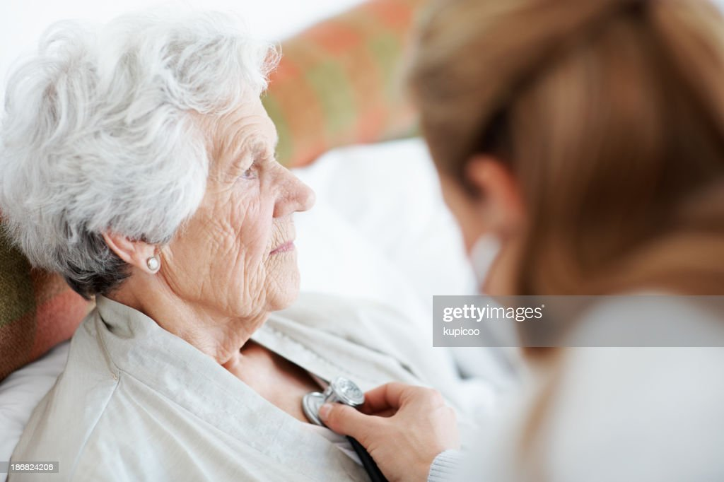 Matters of the heart - Senior Care : Stock Photo