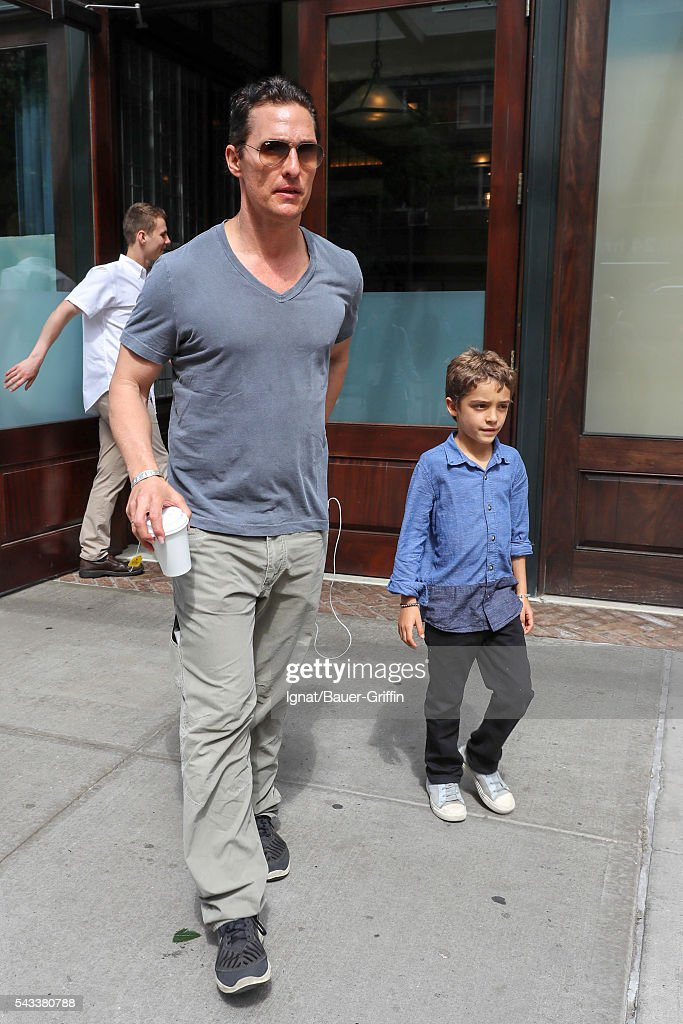 Matthew and Levi McConaughey are seen on June 27, 2016 in New York City.