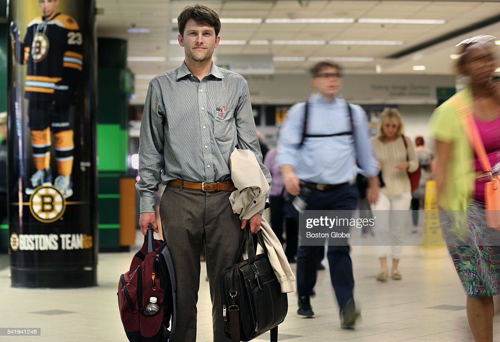 Matthew Andrewes, of Concord, Mass., stands for a portrait in North Station in Boston on June 20, 2016. Andrewes voluntarily apologized to the MBTA with a $300 payment for train fares he evaded years ago.