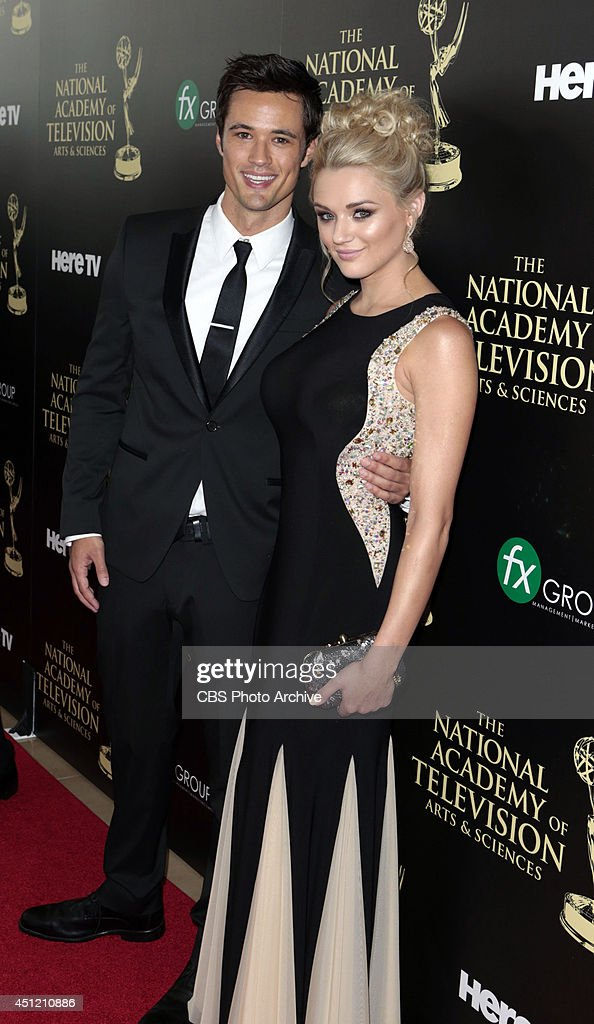 Matthew Atkinson and Hunter King on the red carpet at The 41st Annual Daytime Entertainment Emmy® Awards.