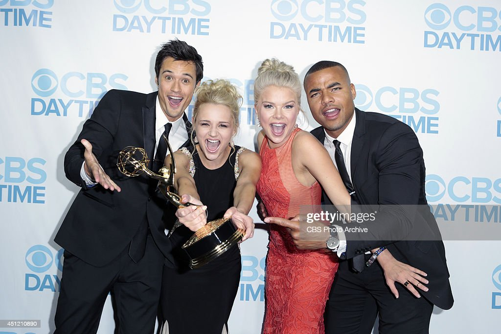 Matthew Atkinson, Hunter King, Kelli Goss and Bryton James of CBS Daytime's The Young and the Restless attends The 41st Annual Daytime Emmy® Awards in Los Angeles on Sunday, June 22.